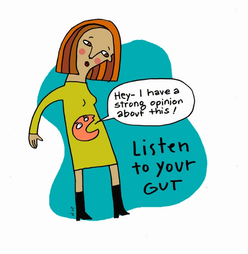 Listen to your gut. But also listen to your heart and your head. Image Source ninjawomen.blogspot