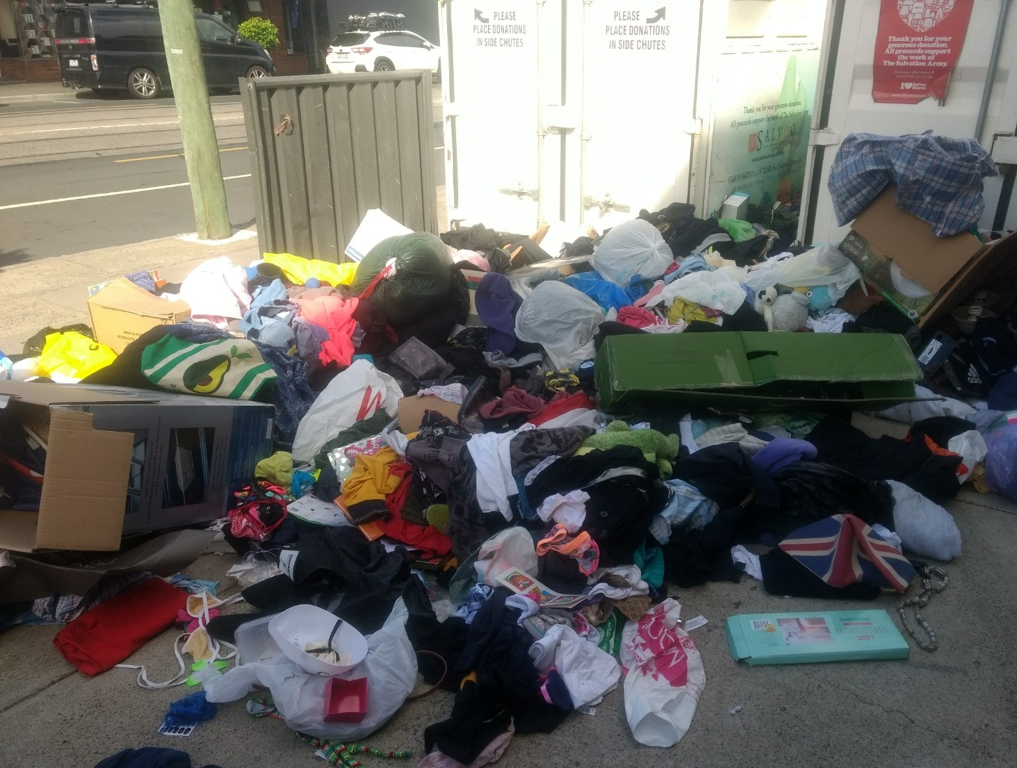 The scene of our conversation. Imagine arriving to volunteer to clear this up every day. Image Source - My own - unfortunately.