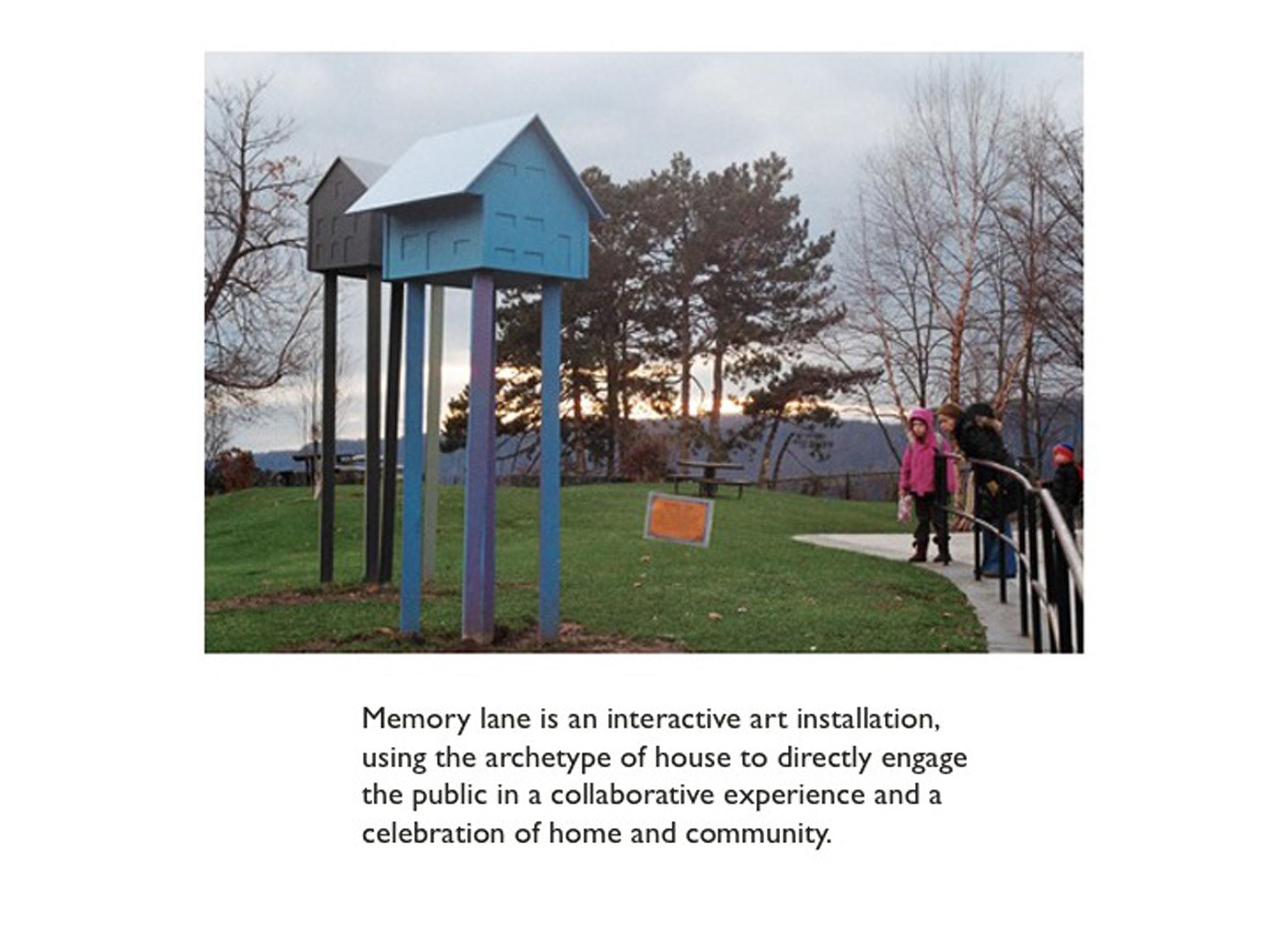 Memory Lane: a public art installation