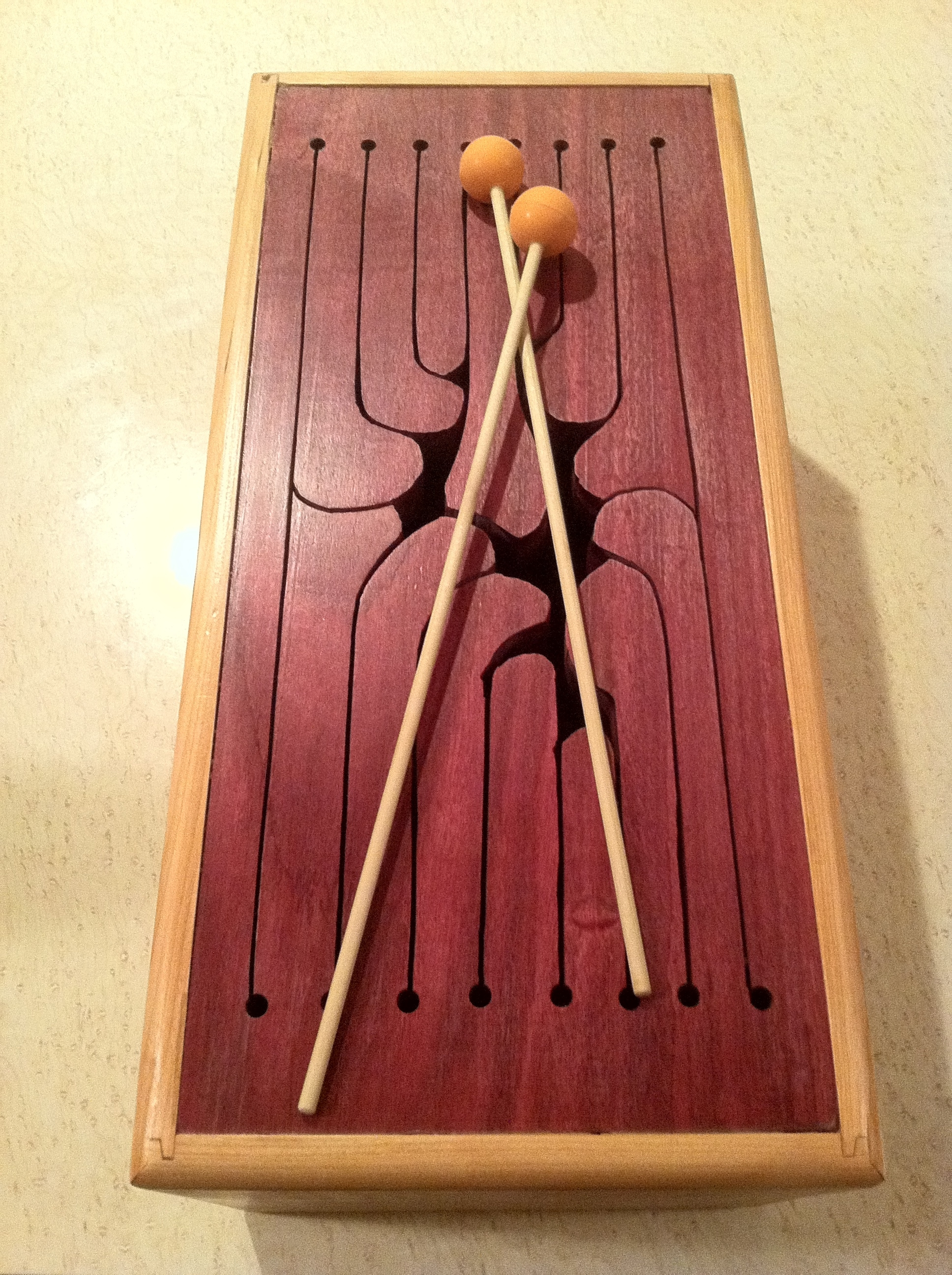 Tongue Drum - Purpleheart top