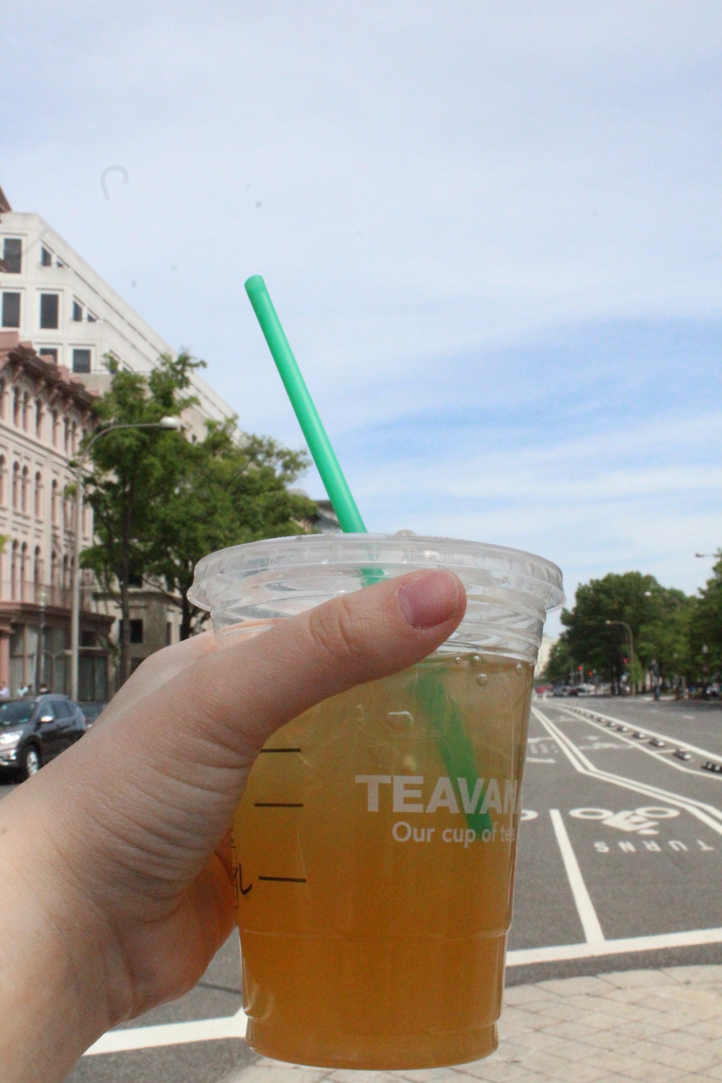 Starbucks best summer drink is here--Iced Peach Green Tea Lemonade!
