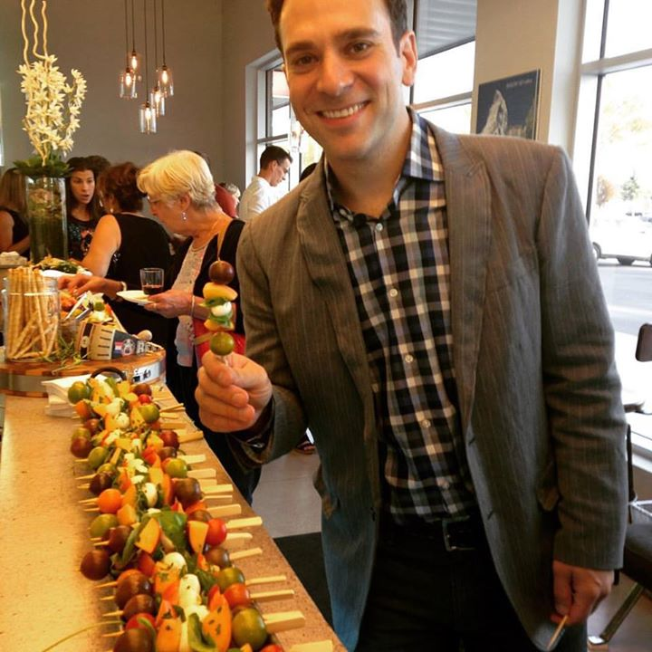 The Amazing Dr. Ernie and the Amazing party food provided by our dear friend April Valvano. Looking dapper, Dr. Ernie! April's food was a knock out! Her ingredients were grown organically in her farm patch in Port Dalhousie and assembled with love.