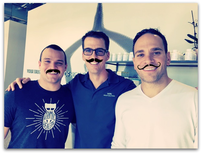 Supporting a good cause for Men's Health. Here's what we think our docs are going to look like at the end of November after they grow out their Mo! ;P Scroll down to see their Week One pic.
