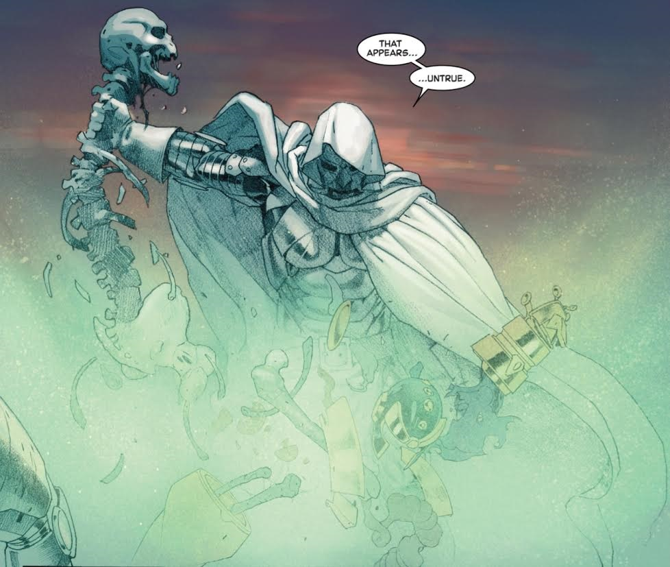 Doom is not amused. Secret Wars 8. (C) 2015 Marvel Comics.