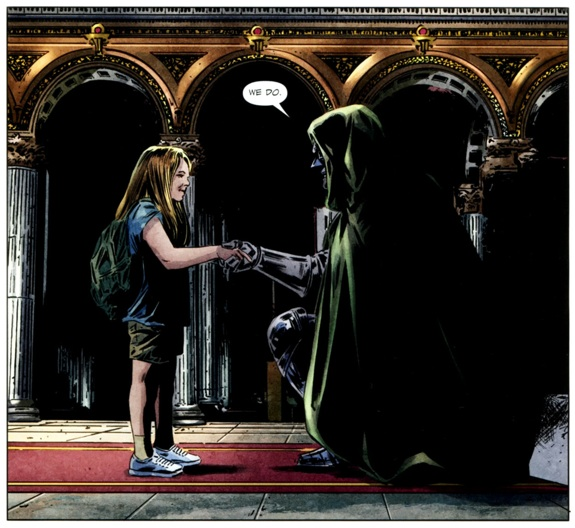 Parejas Increibles. Valeria Richards and Victor Von Doom. (c) 2017 Marvel Comics