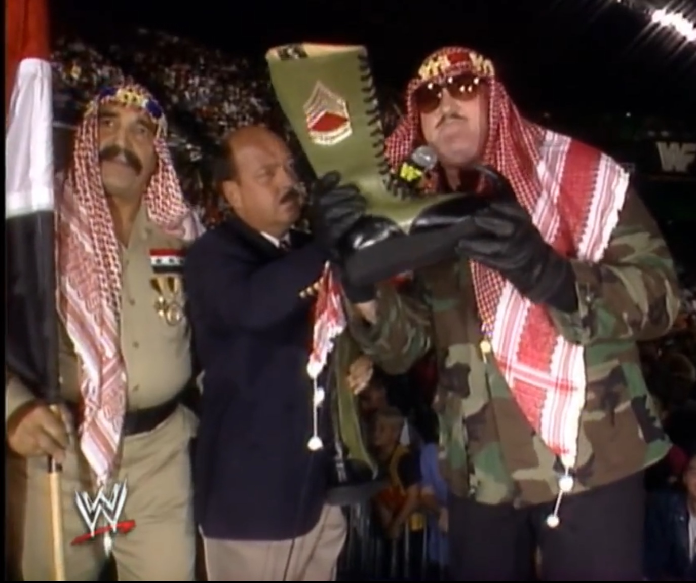 Just one example of Vince McMahon's great history of Middle East relations.