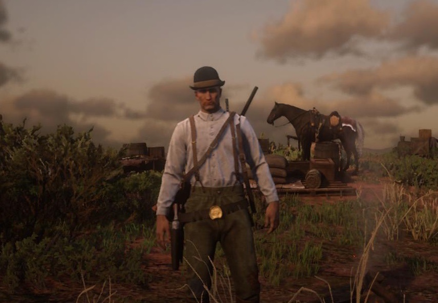 Why yes, my RDR2 Online character is Dum Dum Dugan.