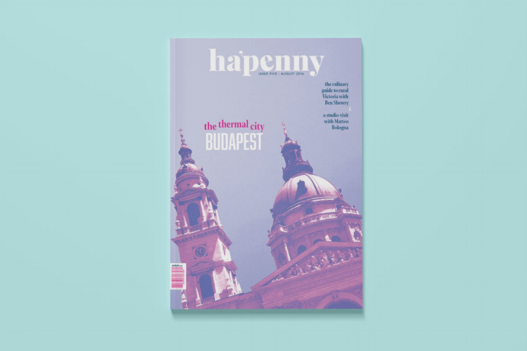 Ha'Penney   is a travel and lifestyle magazine. This particular issue showcases a feature article on Budapest, including two illustrated maps.