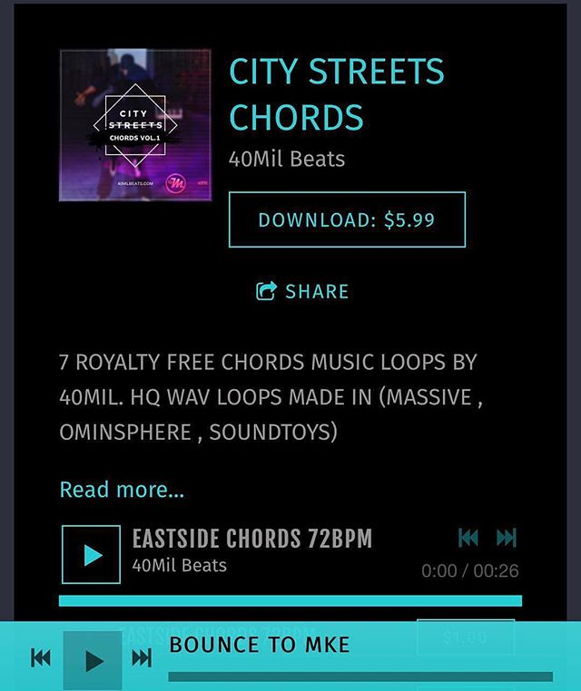 #Repost from @mrforte40mil. 🥊OUT NOW CITY STREETS CHORDS🥊 ROYALTY FREE CHORD LOOPS BY 40MilBeats.com . . . . . . . .  #soundloops #beatkits #soundpack #soundpacks #soundkits #beats #sounds #producers #maschinemasters #40milbeatscom @rhythmaddixmg @justyohance #producerchallenge #loops