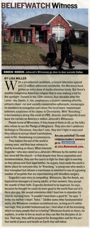 Newsweek  magazine May 27, 2007