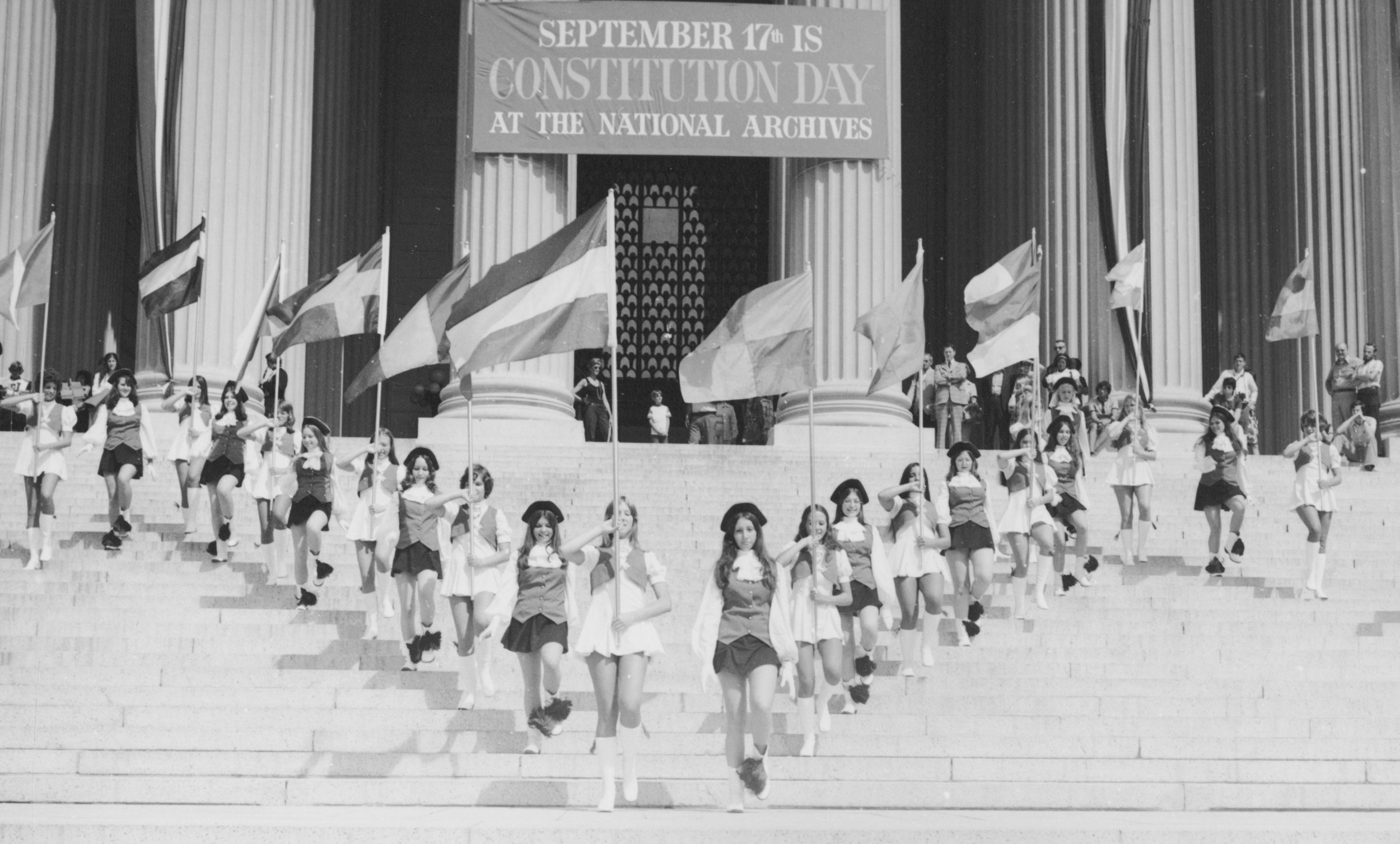 Celebrating at the National Archives in 1974.