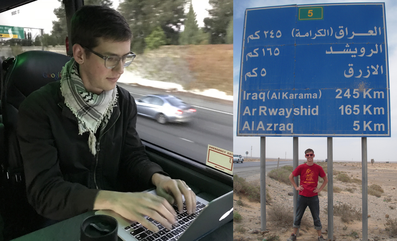 Kevin Steen founded Rainbow Street, a lifeline for LGBT persecution in the Middle East, while riding the Google bus to Silicon Valley. His friend Mohammad, who can't be pictured for safety reasons, was the first client. They met when Kevin studied Arabic in Jordan. (Photo credit: Allyson Stronach)