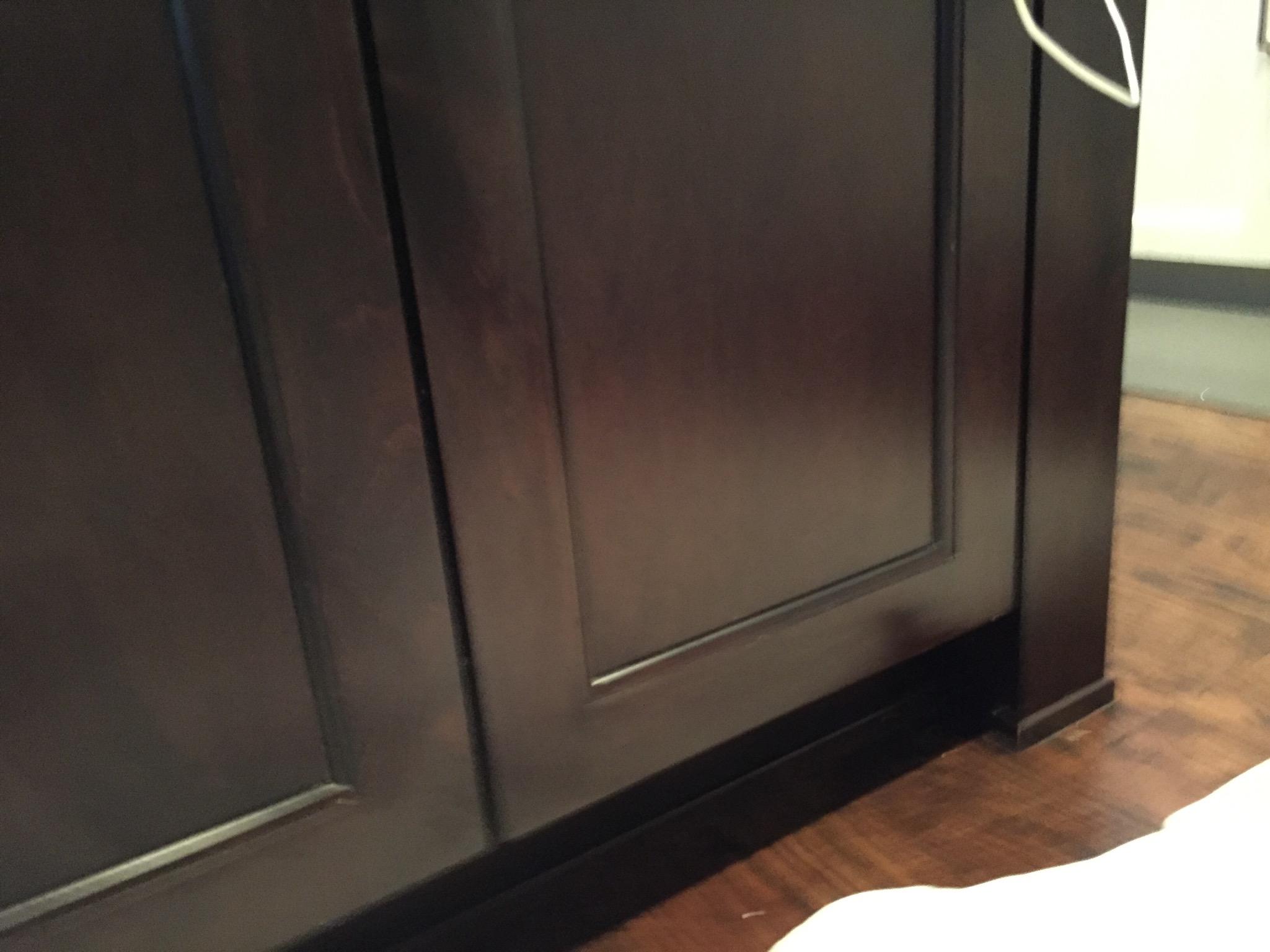 - Kitchen cabinet damage after