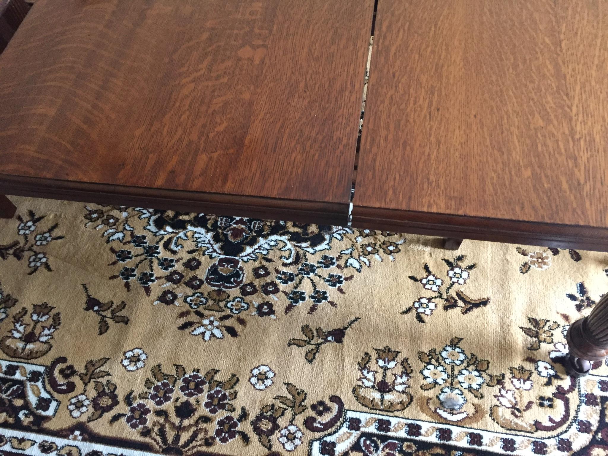 - Table leaf after