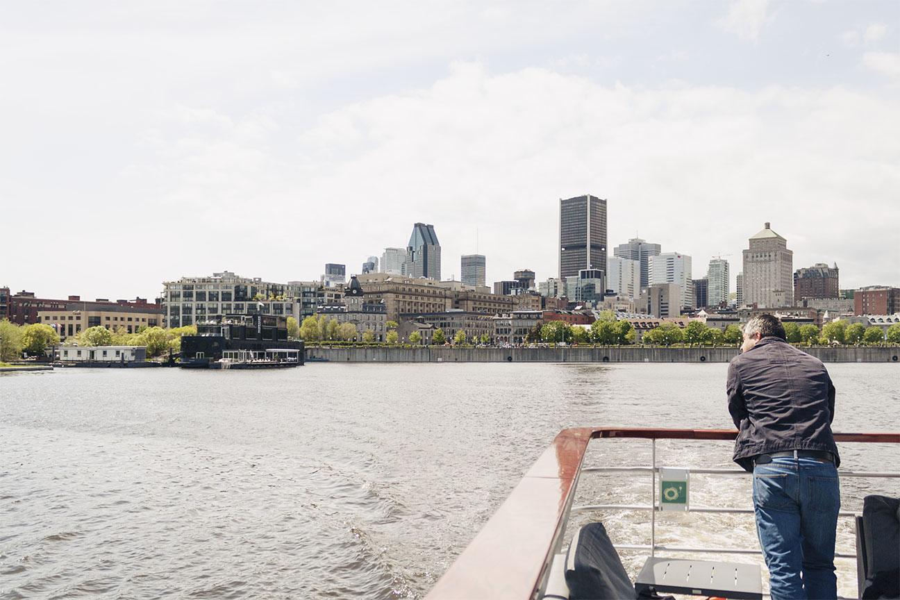 Vue du Vieux-Port à bord du Bateau-Mouche