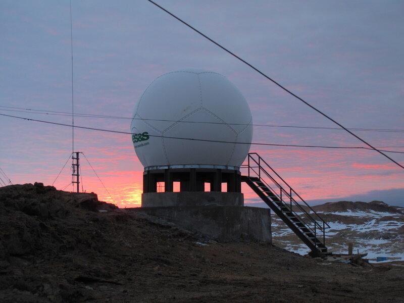 satellite ground stations.