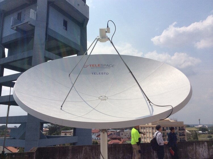 Figure 1: Telesto ground station install for Laos in 2015 procured by the World Meteorological Organisation