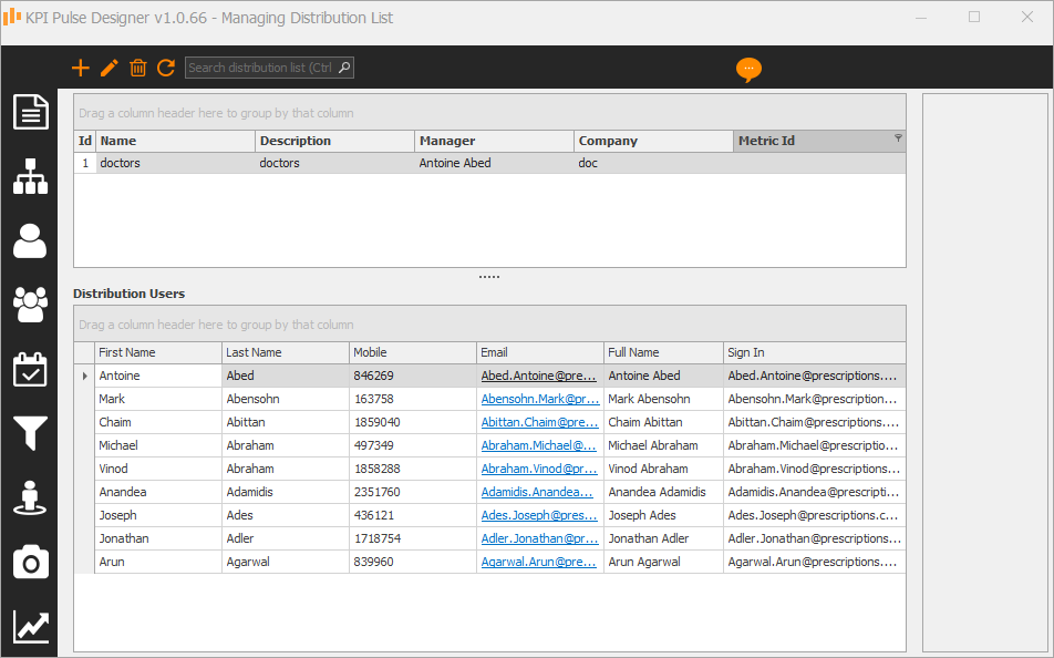 QlikView Reporting - Create a distribution list