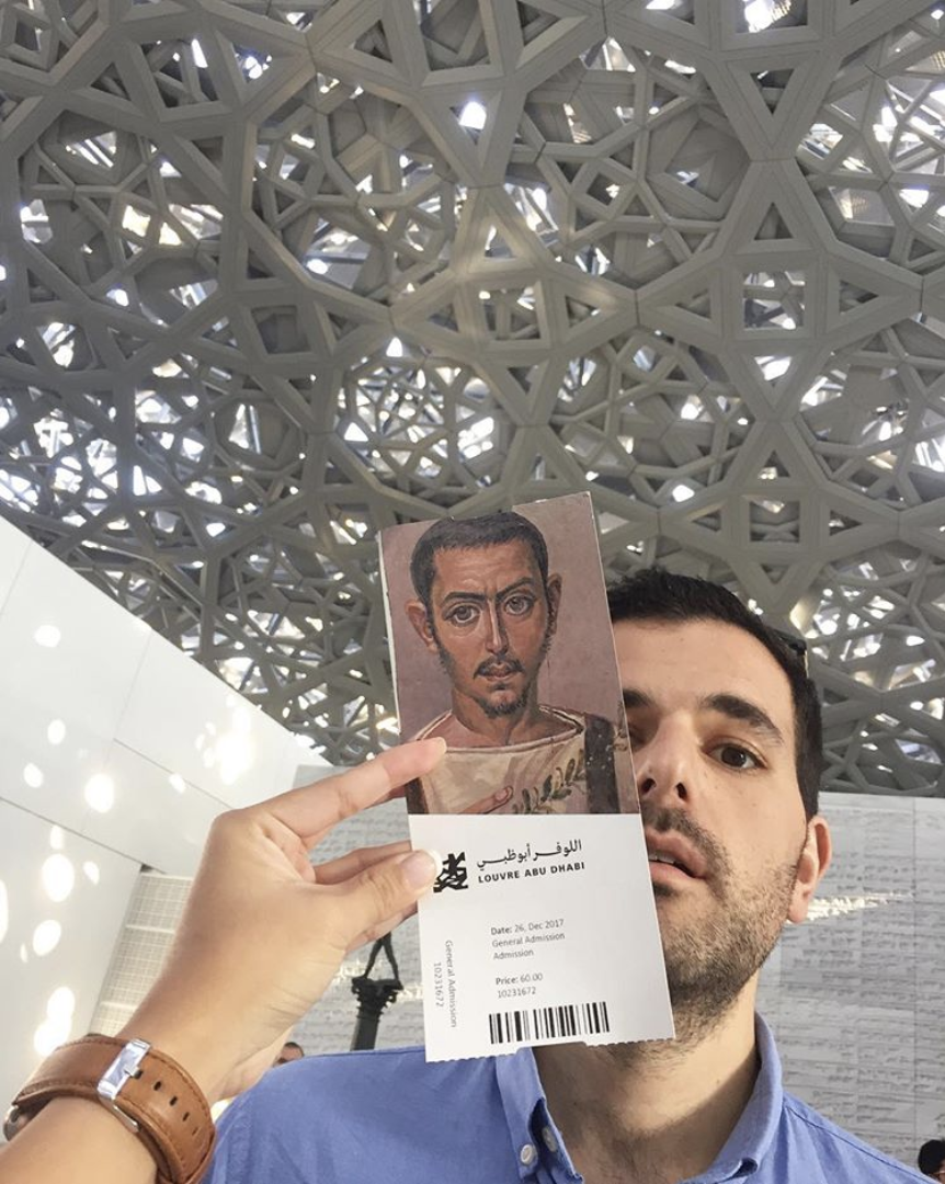 """""""Rain of Light"""" from the Louvre Abu Dhabi's dome."""