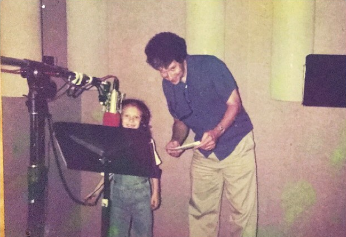 8 year old Arianna and her dad Bill in the booth