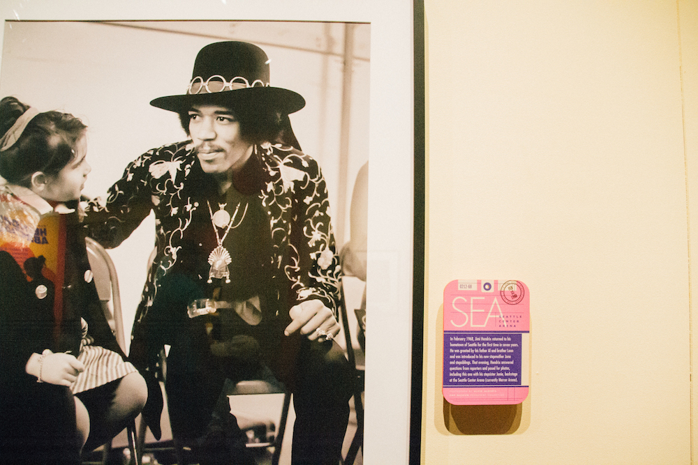 jimi hendrix themed room at the ExperienceMusic Projectmuseum in his hometown
