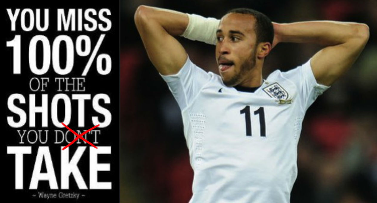Andros Townsend: Doesn't understand motivational posters
