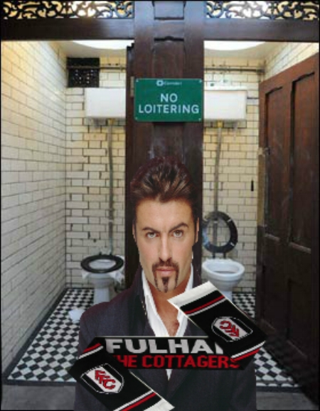 George Michael: Not a Fulham fan apparently.......