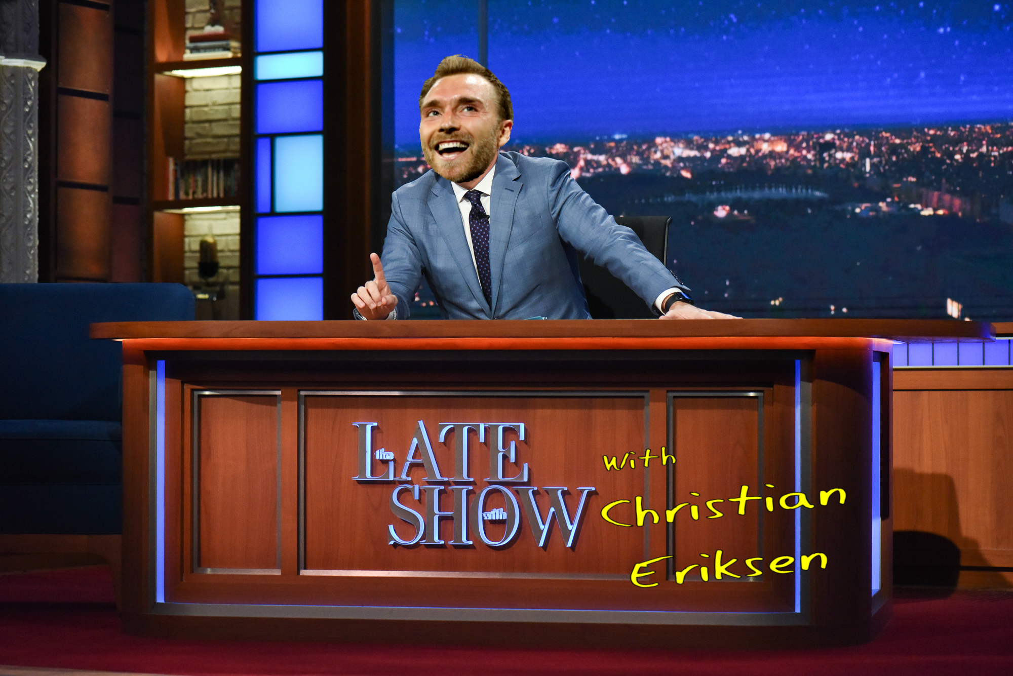 The Late Show with Christian Eriksen:  It may all be in Danish but it is still better than watching Harry Redknapp eating bugs in the jungle