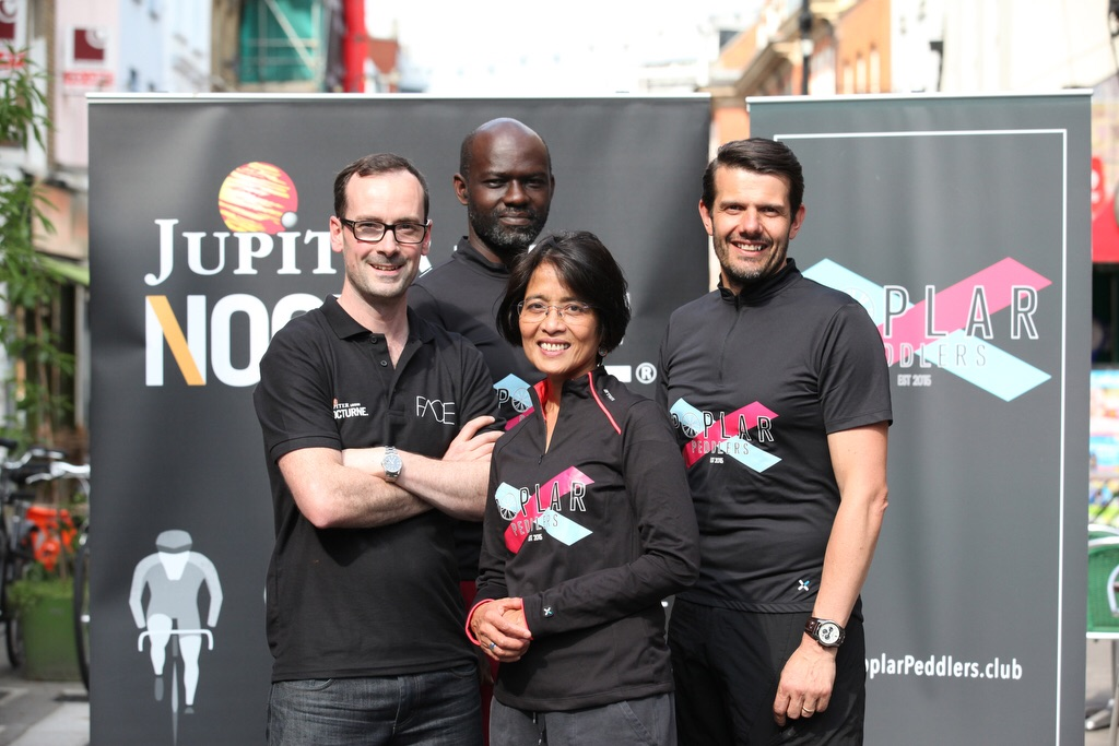 James from Face Partnership, Ana Mae, Nigel and Myself, taking official photos for the launch