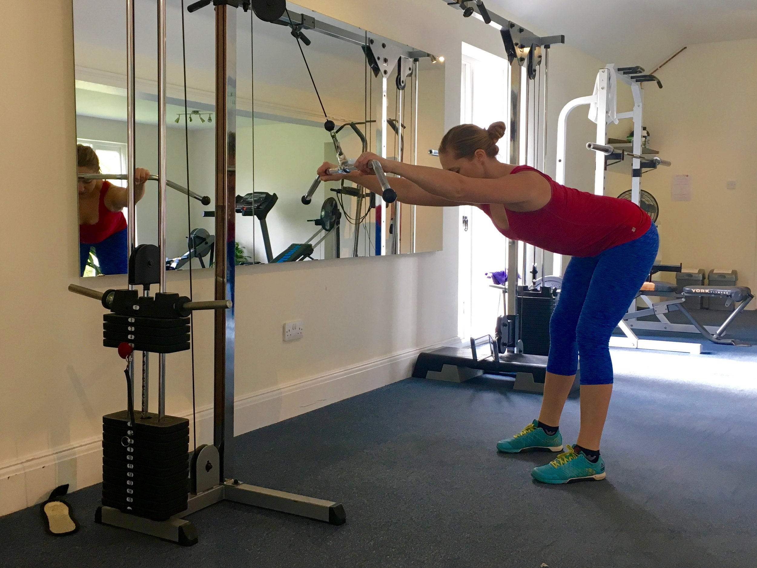 Straight Arm Pull Downs  Click  HERE  for video