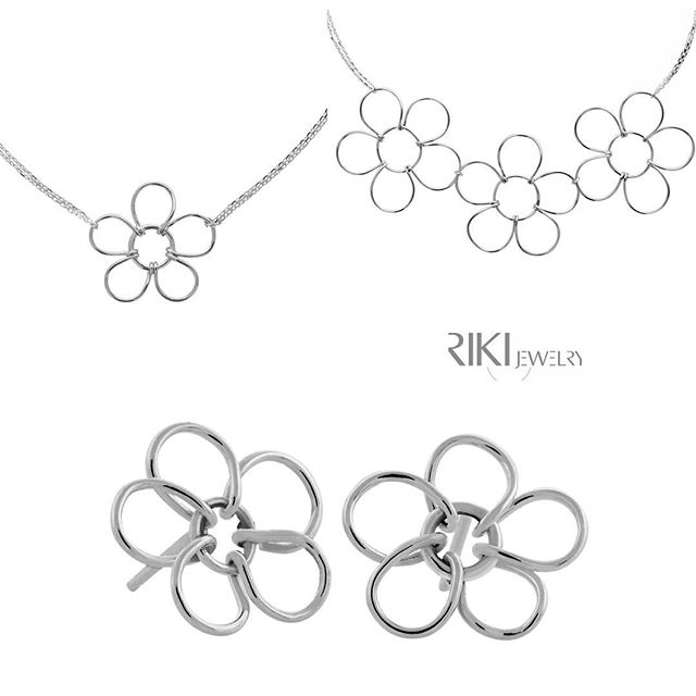 Don't you just love our Sterling Silver Blossom Collection?? www.rikisjewelry.com