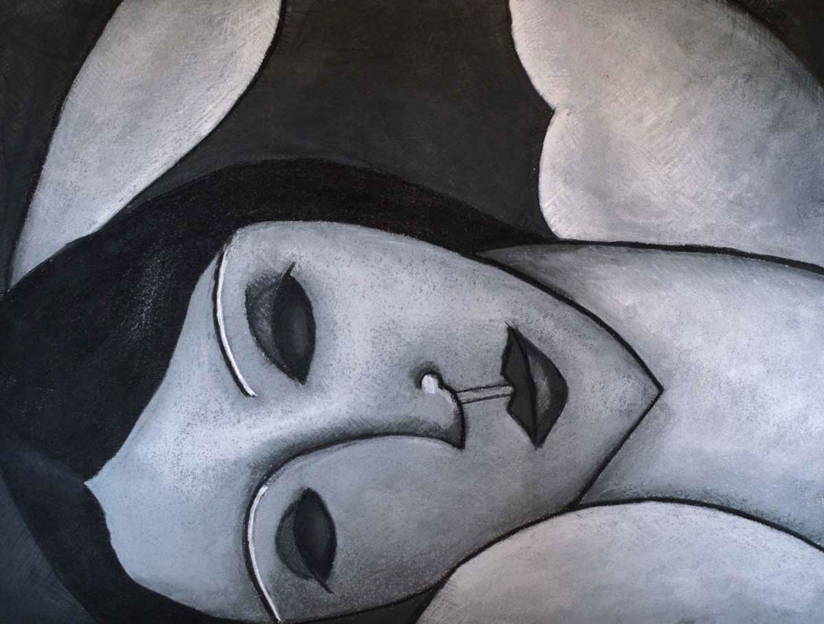 After Modigliani's Reclining Nude, 2016
