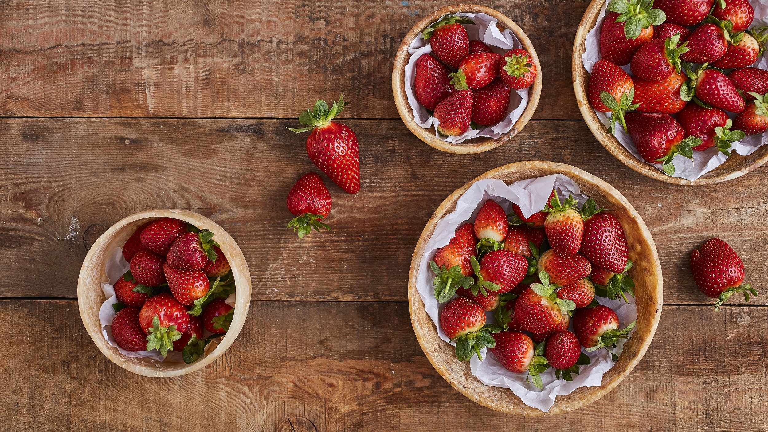 For the freshest strawberries, always buy them in season.
