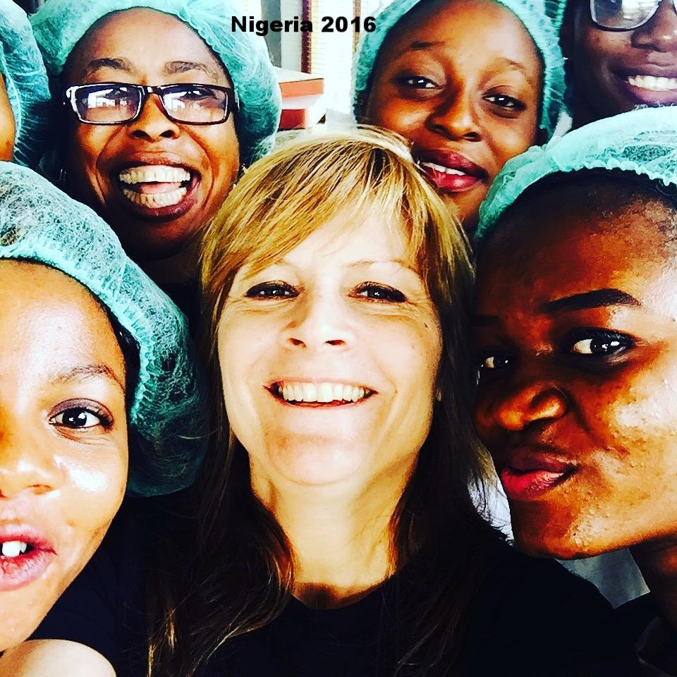 Selfie with Cassava Processors in Nigeria, 2016