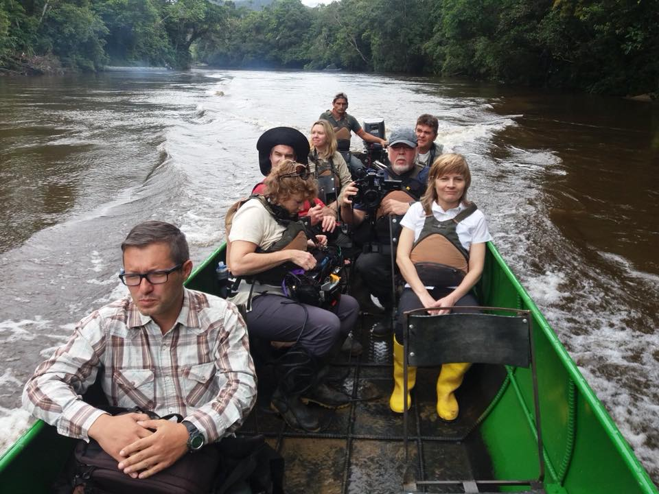 Journo4Justice documentary crew filming in Ecuador with Nature and Culture International, which works to protect biodiverse ecosystems in concert with local people in Latin America