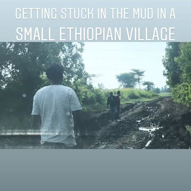 Adventures in Ethiopia. A washed out road leads to an impromptu photo shoot with some kids who stop to watch. Later in the day we interview a female farmer.