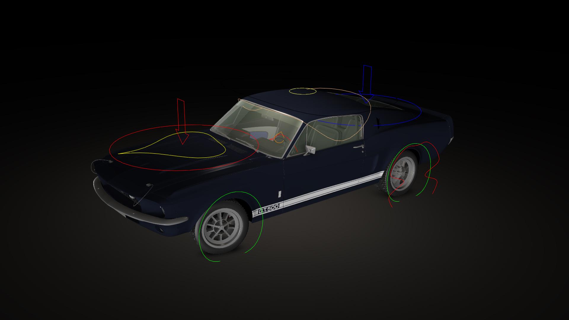 Mustang Car rig Maya - by Lunar Animation