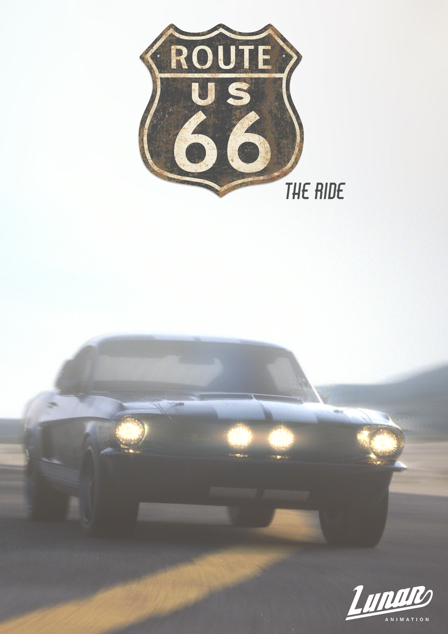 Lunar Animation - Route 66 The Ride Movie Poster