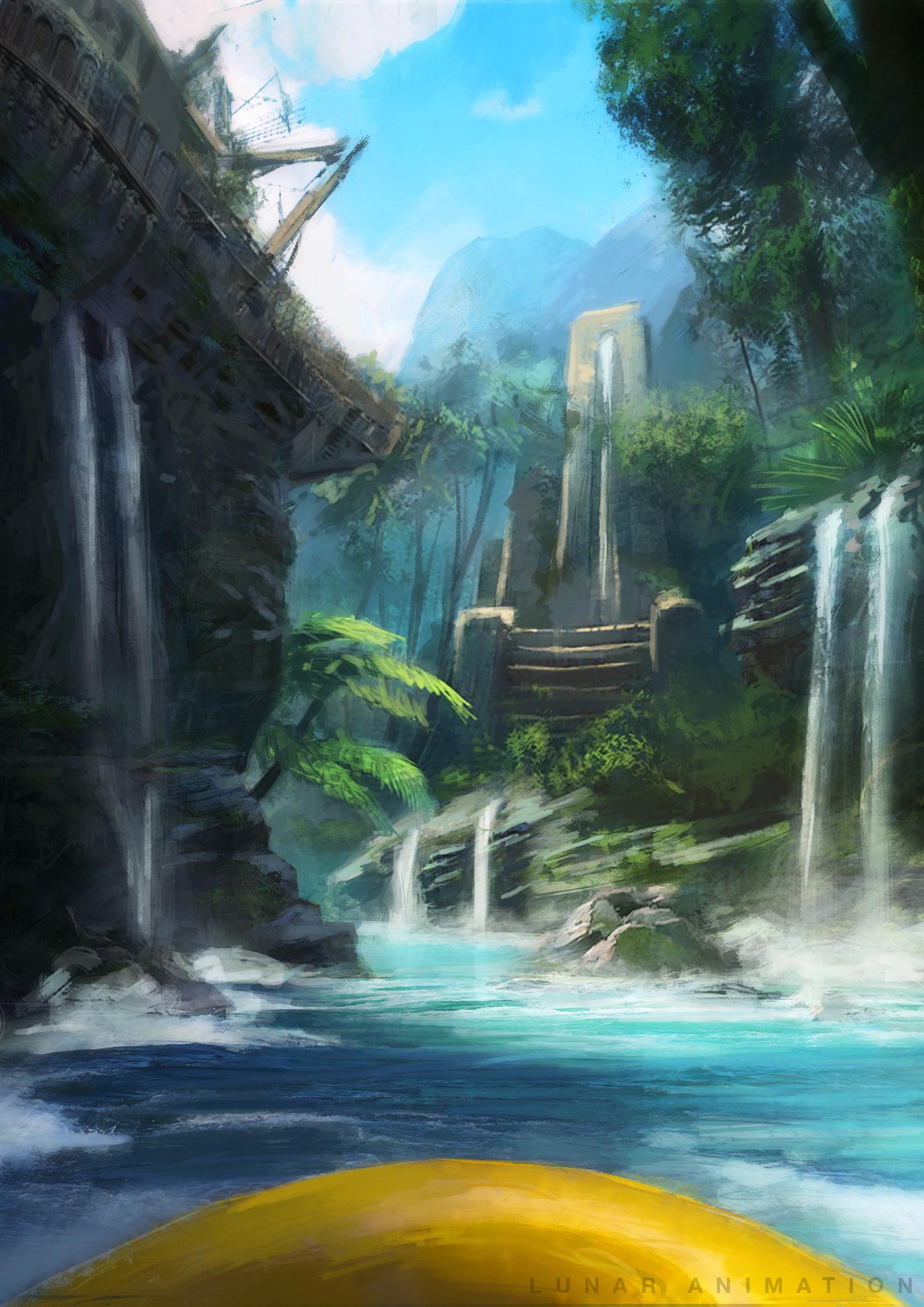 Splash Canyon Concept Art
