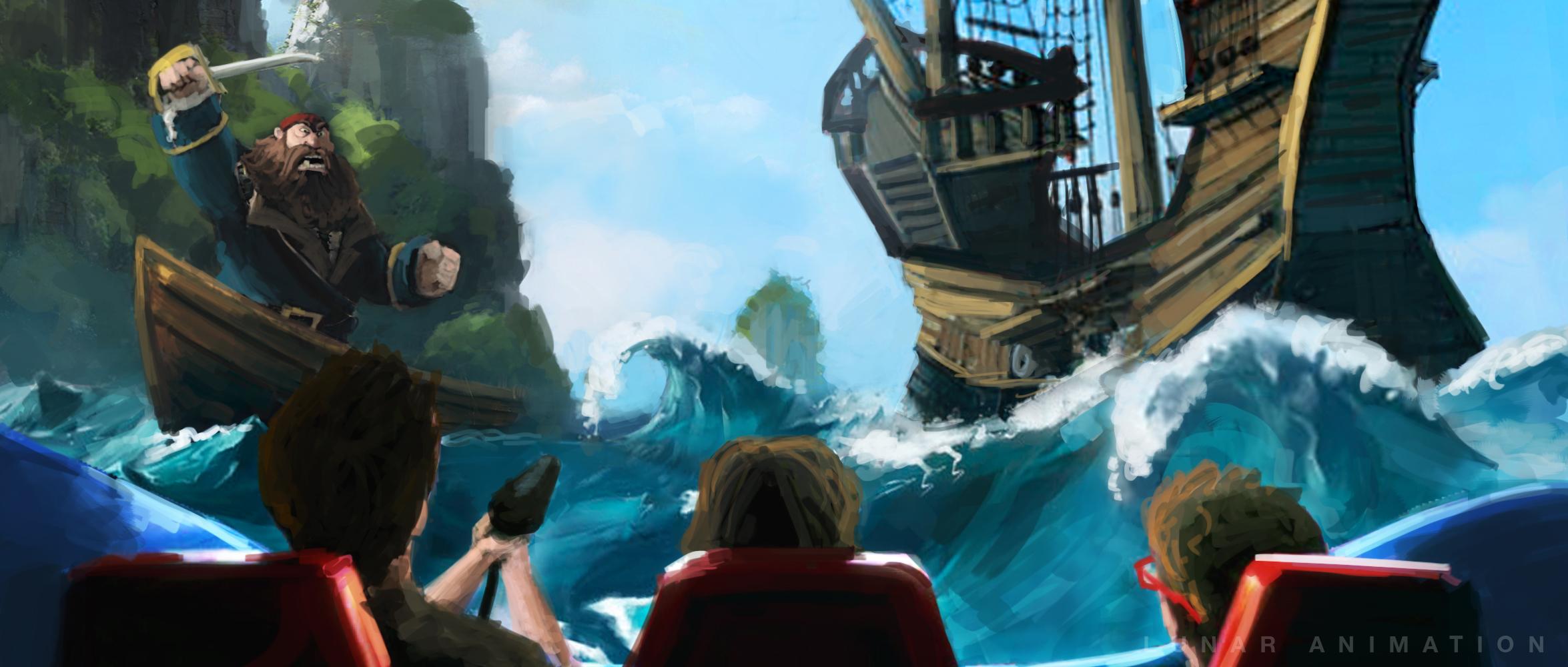Interactive Ride Concept Art - Pirates