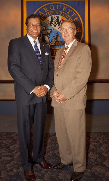 Rhaoul A. Guillaume, Sr., P.E., F.ASCE and OPUS Dean of Engineering, Stanley V. Jaskolski, Ph.D., Marquette University