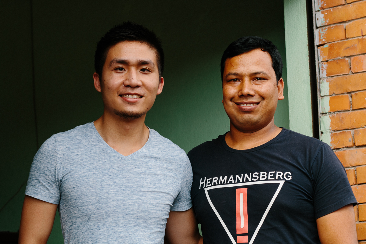 With Prem in his workshop in Bhaktapur just last month.