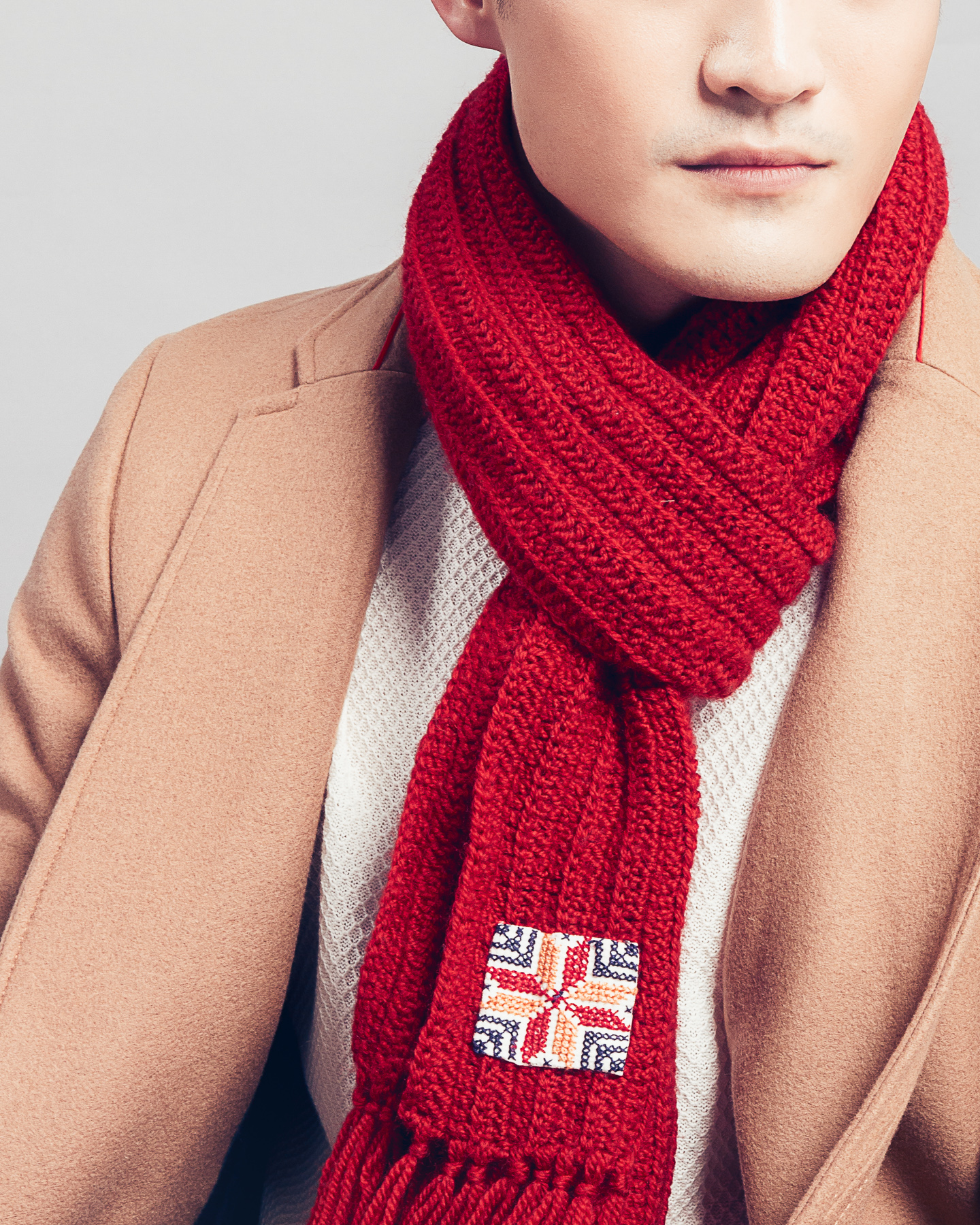 ArtisanAndFox_Scarves & Shawls_Syrian Scarf in Ribbed-Knit, Merlot