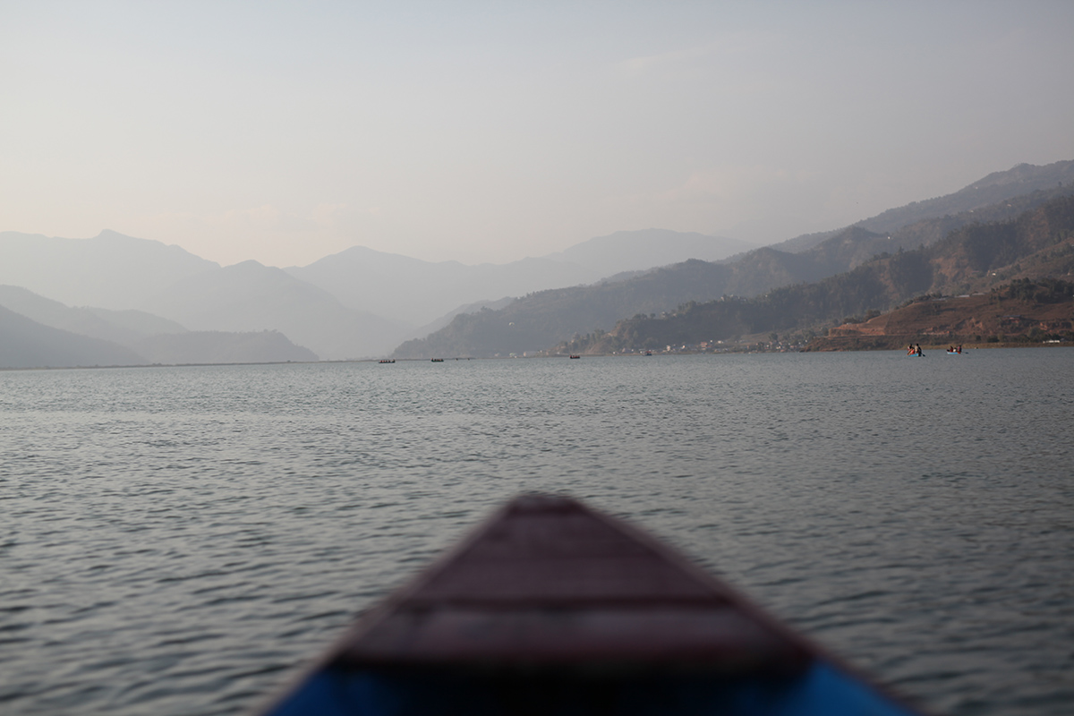 On a lake in Nepal during one of our fieldtrips. Photography by Sy.