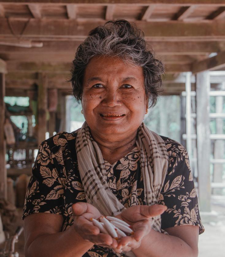 Partnering artisan Da, from Prek Chrey Village, Cambodia.