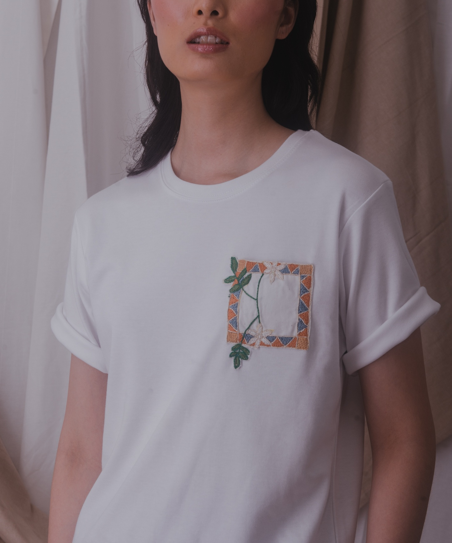 The  Aleppene Jasmine Tee in White .