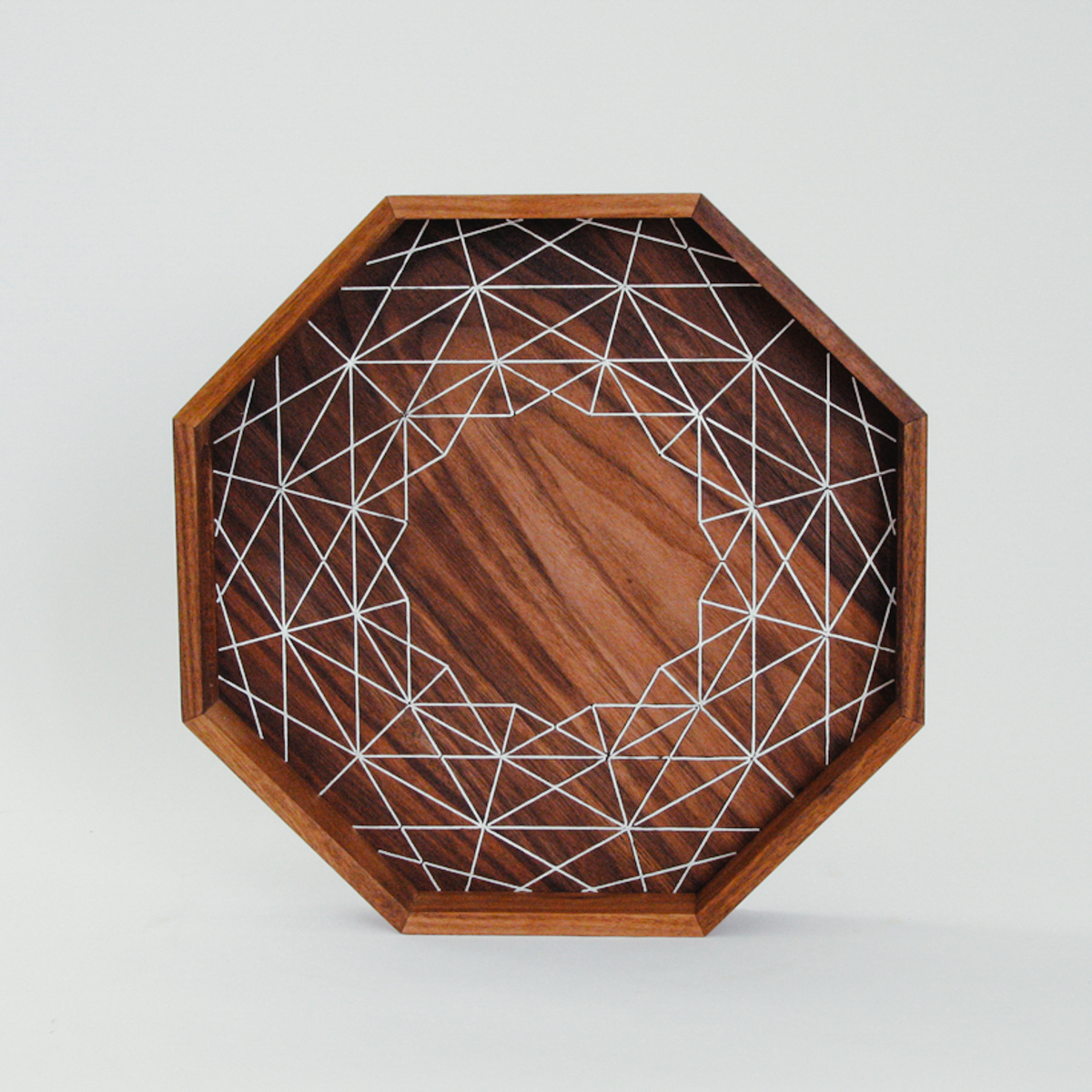 The  ARABESQUE Walnut Tray  with traditional inlay techniques.