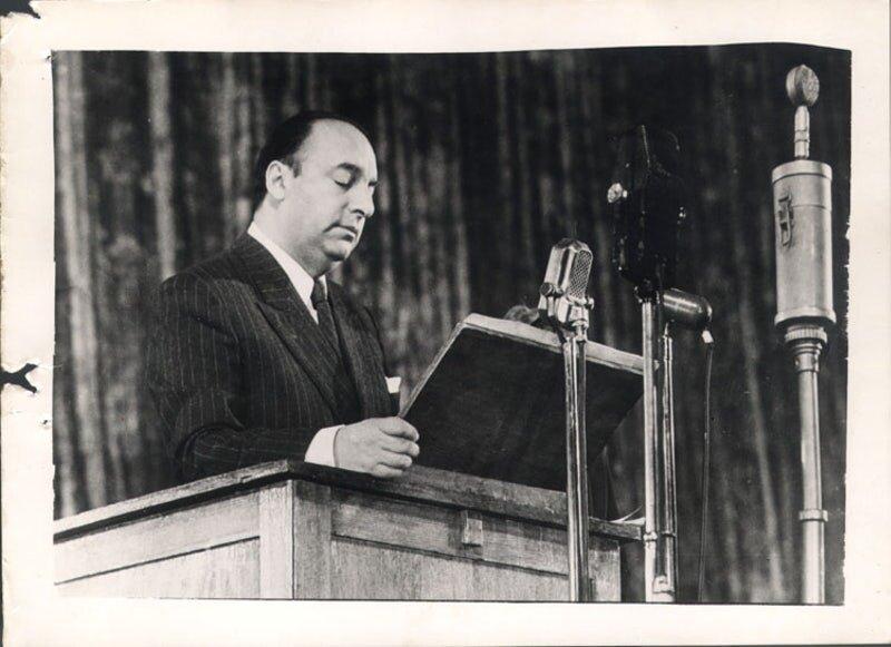Pablo Neruda. Photo: Poetry Foundation