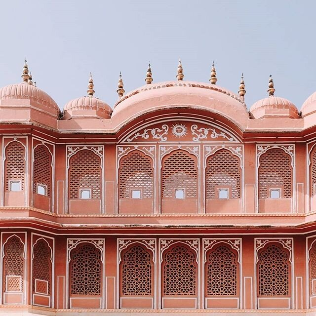 Intricate jali's on the facade of the Red Fort in Jaipur, Rajasthan, India. Photo: Suitcase.