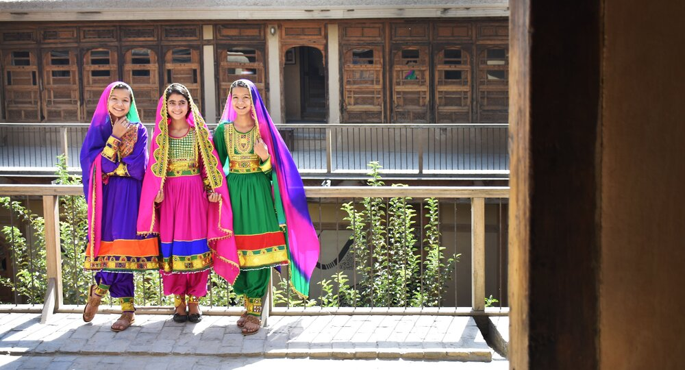 Children dressed up for Nowruz, the Persian New Year.